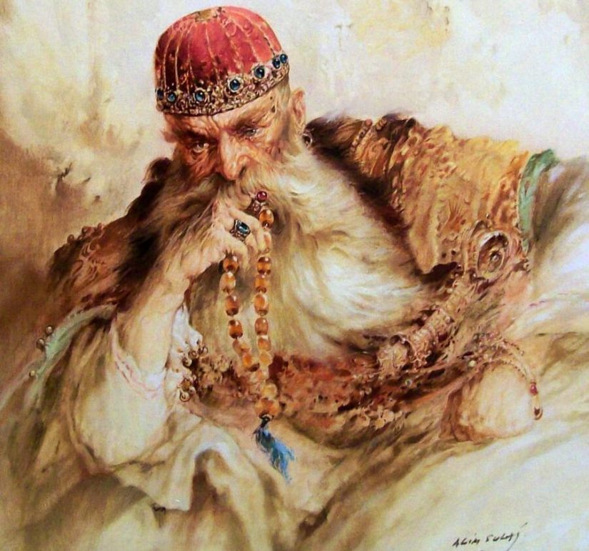 Ali_Pasha_Tepelena_Oil_paint_of_Agim_Sulaj