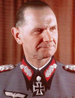 ο διοικητής του 22ου Σώματος Στρατού Ιωαννίνων Hubert Lanz