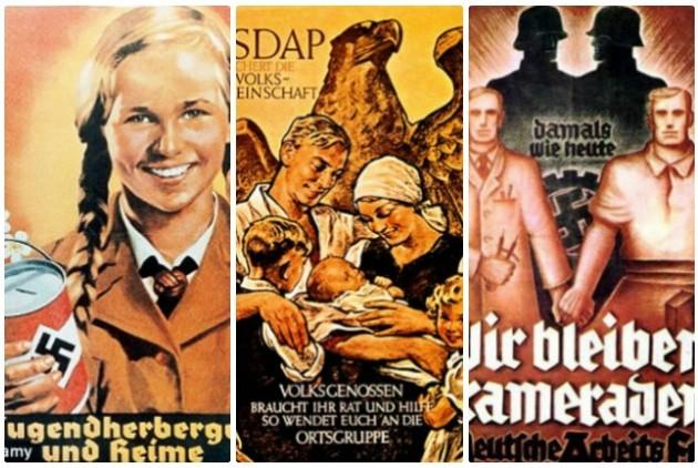 Προπαγανδιστικές αφίσες των Ναζί