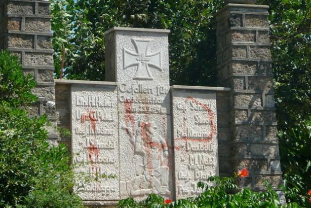 Το ναζιστικό μνημείο για τη μάχη με τον ΕΛΑΣ στα Φλώρια