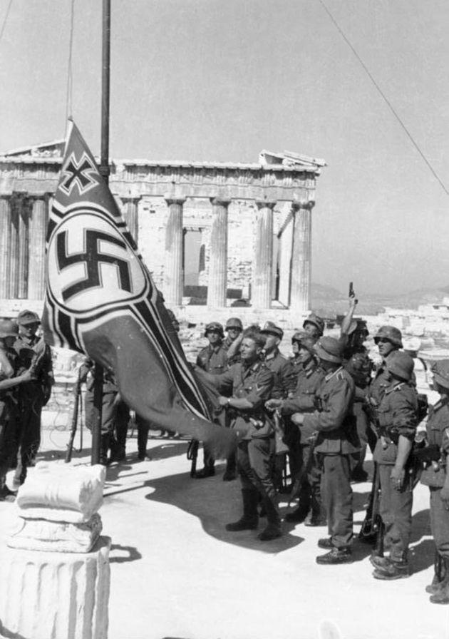 Η πολεμική σημαία του Ράιχ στην Ακρόπολη (Μάιος 1941)